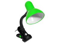 R&C Лампа настольная на прищепке зеленая Е-27 HN1017