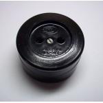 Розетка 1-я без заземления карболит керамика черный о/у Елкон 16А РА16-У21