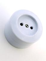 Розетка 1-я без заземления карболит керамика о/у Елкон 16А РА16-У21