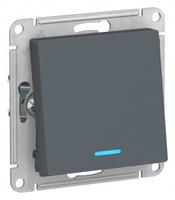 Schneider Electric ATLAS DESIGN 1-кл ПЕРЕКЛЮЧАТЕЛЬ с подсветкой, сх.6а, 10АХ, механизм, ГРИФЕЛЬ ATN000763