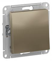 Schneider Electric ATLAS DESIGN 1-клавишный ПЕРЕКЛЮЧАТЕЛЬ, сх.6, 10АХ, механизм, ШАМПАНЬ ATN000561