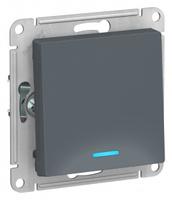 Schneider Electric ATLAS DESIGN 1-клавишный ВЫКЛЮЧАТЕЛЬ с подсветкой, сх.1а, 10АХ, механизм, ГРИФЕЛЬ ATN000713