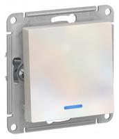 Schneider Electric ATLAS DESIGN 1-клавишный ВЫКЛЮЧАТЕЛЬ с подсветкой, сх.1а, 10АХ, механизм, ЖЕМЧУГ ATN000413