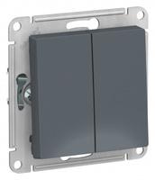 Schneider Electric ATLAS DESIGN 2-клавишный ПЕРЕКЛЮЧАТЕЛЬ, сх.6, 10АХ, механизм, ГРИФЕЛЬ ATN000765