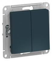 Schneider Electric ATLAS DESIGN 2-клавишный ПЕРЕКЛЮЧАТЕЛЬ, сх.6, 10АХ, механизм, ИЗУМРУД ATN000865