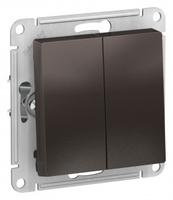 Schneider Electric ATLAS DESIGN 2-клавишный ВЫКЛЮЧАТЕЛЬ, сх.5, 10АХ, механизм, МОККО ATN000651