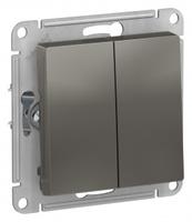 Schneider Electric ATLAS DESIGN 2-клавишный ВЫКЛЮЧАТЕЛЬ, сх.5, 10АХ, механизм, СТАЛЬ ATN000951