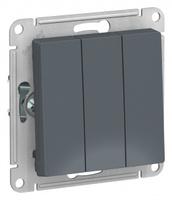 Schneider Electric ATLAS DESIGN 3-клавишный ВЫКЛЮЧАТЕЛЬ, сх.1+1+1, 10АХ, механизм, ГРИФЕЛЬ ATN000731