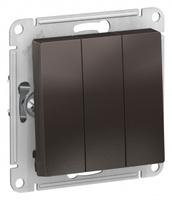 Schneider Electric ATLAS DESIGN 3-клавишный ВЫКЛЮЧАТЕЛЬ, сх.1+1+1, 10АХ, механизм, МОККО ATN000631