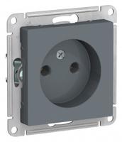 Schneider Electric ATLAS DESIGN РОЗЕТКА без заземления, 16А, механизм, ГРИФЕЛЬ ATN000741
