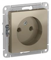 Schneider Electric ATLAS DESIGN РОЗЕТКА без заземления, 16А, механизм, ШАМПАНЬ ATN000541
