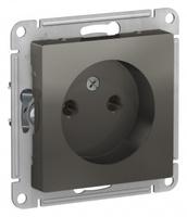 Schneider Electric ATLAS DESIGN РОЗЕТКА без заземления, 16А, механизм, СТАЛЬ ATN000941