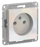 Schneider Electric ATLAS DESIGN РОЗЕТКА без заземления, 16А, механизм, ЖЕМЧУГ ATN000441