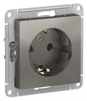 Schneider Electric ATLAS DESIGN РОЗЕТКА с заземлением, 16А, механизм, СТАЛЬ ATN000943