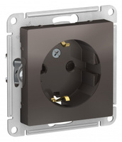 Schneider Electric ATLAS DESIGN РОЗЕТКА с заземлением со шторками, 16А, механизм, МОККО ATN000645