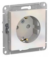 Schneider Electric ATLAS DESIGN РОЗЕТКА с заземлением со шторками, 16А, механизм, ЖЕМЧУГ ATN000445