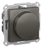 Schneider Electric ATLAS DESIGN СВЕТОРЕГУЛЯТОР (диммер) поворотно-нажимной, 315Вт, мех., СТАЛЬ ATN000934