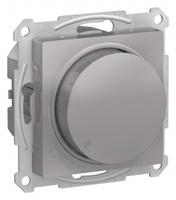 Schneider Electric ATLAS DESIGN СВЕТОРЕГУЛЯТОР (диммер) поворотно-нажимной, 630Вт, мех., АЛЮМИНИЙ ATN000336