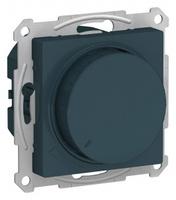 Schneider Electric ATLAS DESIGN СВЕТОРЕГУЛЯТОР (диммер) поворотно-нажимной, 630Вт, мех., ИЗУМРУД ATN000836