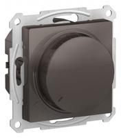 Schneider Electric ATLAS DESIGN СВЕТОРЕГУЛЯТОР (диммер) поворотно-нажимной, 630Вт, мех., МОККО ATN000636