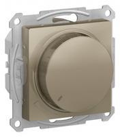 Schneider Electric ATLAS DESIGN СВЕТОРЕГУЛЯТОР (диммер) поворотно-нажимной, 630Вт, мех., ШАМПАНЬ ATN000536