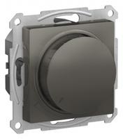 Schneider Electric ATLAS DESIGN СВЕТОРЕГУЛЯТОР (диммер) поворотно-нажимной, 630Вт, мех., СТАЛЬ ATN000936