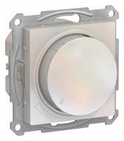 Schneider Electric ATLAS DESIGN СВЕТОРЕГУЛЯТОР (диммер) поворотно-нажимной, 630Вт, мех., ЖЕМЧУГ ATN000436