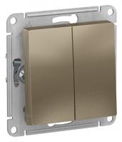 Schneider Electric ATLAS DESIGN 2-клавишный ПЕРЕКЛЮЧАТЕЛЬ, сх.6, 10АХ, механизм, ШАМПАНЬ ATN000565