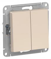 Schneider Electric ATLAS DESIGN 2-клавишный ВЫКЛЮЧАТЕЛЬ, сх.5, 10АХ, механизм, БЕЖЕВЫЙ ATN000251