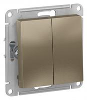 Schneider Electric ATLAS DESIGN 2-клавишный ВЫКЛЮЧАТЕЛЬ, сх.5, 10АХ, механизм, ШАМПАНЬ ATN000551