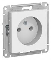 Schneider Electric ATLAS DESIGN РОЗЕТКА без заземления, 16А, механизм, БЕЛЫЙ ATN000141