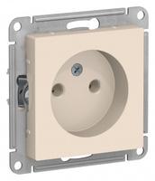 Schneider Electric ATLAS DESIGN РОЗЕТКА без заземления, 16А, механизм, БЕЖЕВЫЙ ATN000241