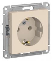 Schneider Electric ATLAS DESIGN РОЗЕТКА с заземлением, 16А, механизм, БЕЖЕВЫЙ ATN000243