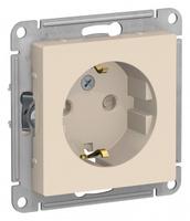 Schneider Electric ATLAS DESIGN РОЗЕТКА с заземлением со шторками, 16А, механизм, БЕЖЕВЫЙ ATN000245