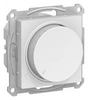 Schneider Electric ATLAS DESIGN СВЕТОРЕГУЛЯТОР (диммер) поворотно-нажимной, 630Вт, мех., БЕЛЫЙ ATN000136