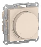 Schneider Electric ATLAS DESIGN СВЕТОРЕГУЛЯТОР (диммер) поворотно-нажимной, 630Вт, мех., БЕЖЕВЫЙ ATN000236