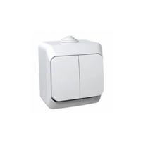 Schneider electric Этюд выключатель 2кл. белый IP44 ВА10-042В