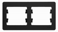 Schneider electric GLOSSA 2-постовая РАМКА, горизонтальная, АНТРАЦИТ GSL000702