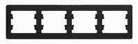 Schneider electric GLOSSA 4-постовая РАМКА, горизонтальная, АНТРАЦИТ GSL000704