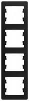Schneider electric GLOSSA 4-постовая РАМКА, вертикальная, АНТРАЦИТ GSL000708