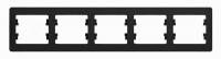 Schneider electric GLOSSA 5-постовая РАМКА, горизонтальная, АНТРАЦИТ GSL000705