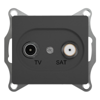 Schneider electric GLOSSA TV-SAT РОЗЕТКА проходная 4DB, механизм, АНТРАЦИТ GSL000798