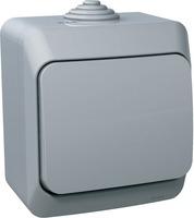 Schneider electric Этюд выключатель 1кл. IP44 серый ВА10-041С