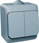 Schneider electric Этюд выключатель 2кл. IP44 серый ВА10-042С