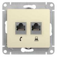 Schneider GLOSSA розетка Компьютер CAT5 + TF крем механизм GSL000285
