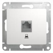 Schneider GLOSSA розетка Компьютер CAT5 белая механизм GSL000181K