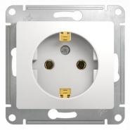 Schneider GLOSSA розетка с/з белая механизм GSL000143