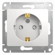 Schneider GLOSSA розетка с/з со шторкой белая механизм GSL000145