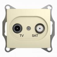 Schneider GLOSSA розетка TV-SAT проходная 4дб. крем механизм GSL000298