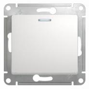 Schneider GLOSSA выключатель 1кл. проходной с подсв. белый механизм GSL000163